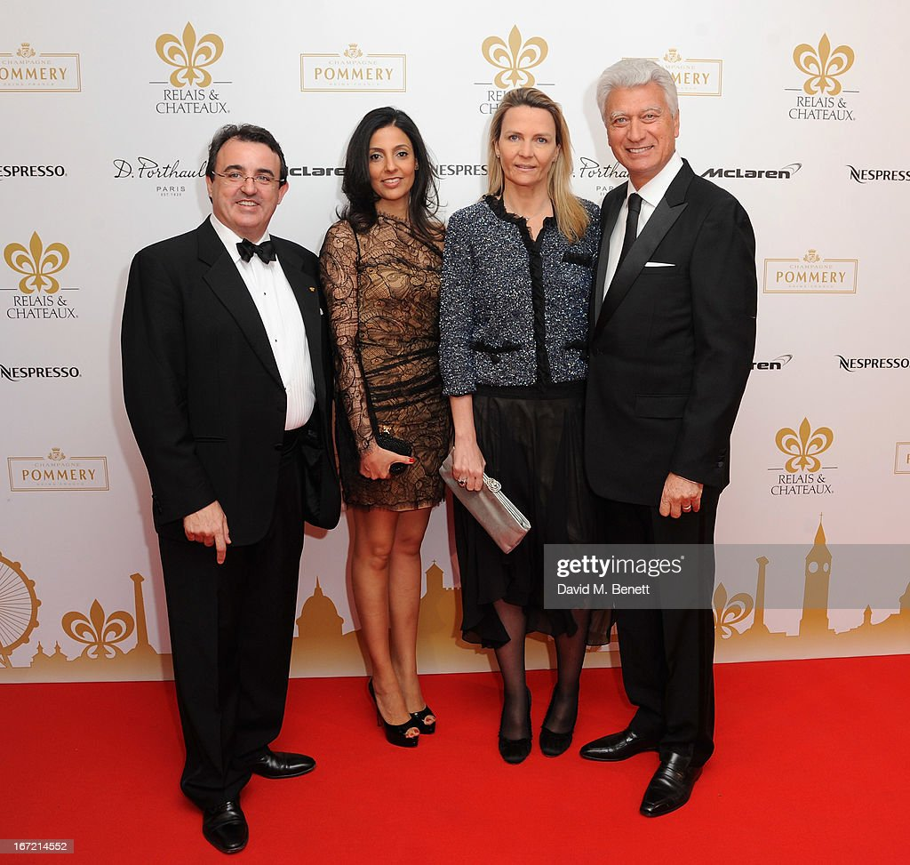 Jaume Tapies, guest, Isabelle Emie and Bernard Emie attend Relais & Chateaux's 'Diner des Grands Chefs London 2013' in aid of Action Against Hunger at The Old Billingsgate on April 22, 2013 in London, England.