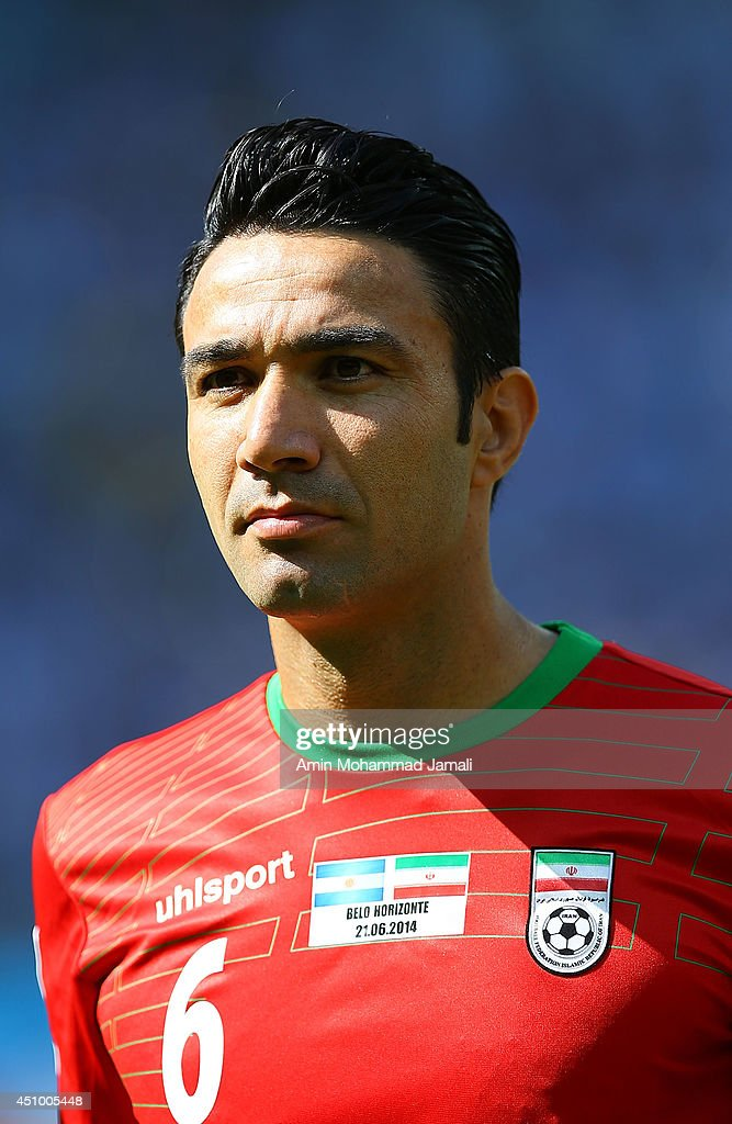 Javad Nekounam of Iran looks on during the 2014 FIFA World Cup Brazil Group F match between Argentina and Iran at Estadio Mineirao on June 21, 2014 in Belo Horizonte, Brazil.