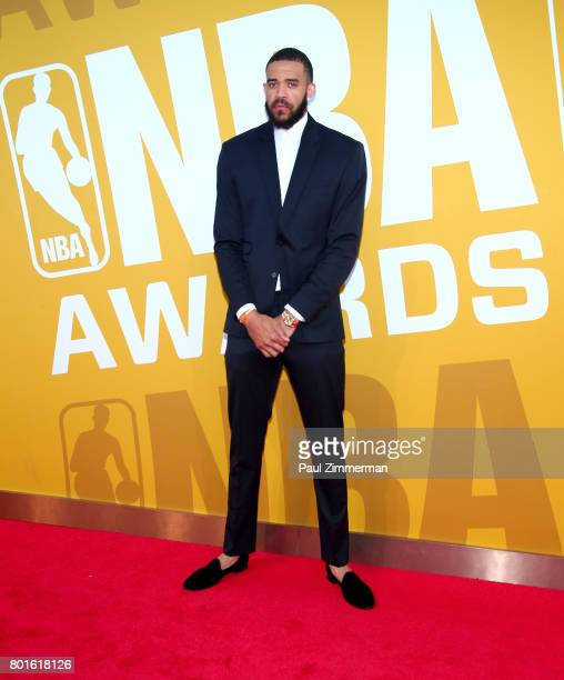 JaVale McGee attends the 2017 NBA Awards at Basketball City Pier 36 South Street on June 26 2017 in New York City