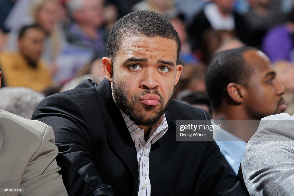 JaVale McGee of the Denver Nuggets inactive against the Sacramento Kings on January 9 2015 at Sleep Train Arena in Sacramento California NOTE TO USER...