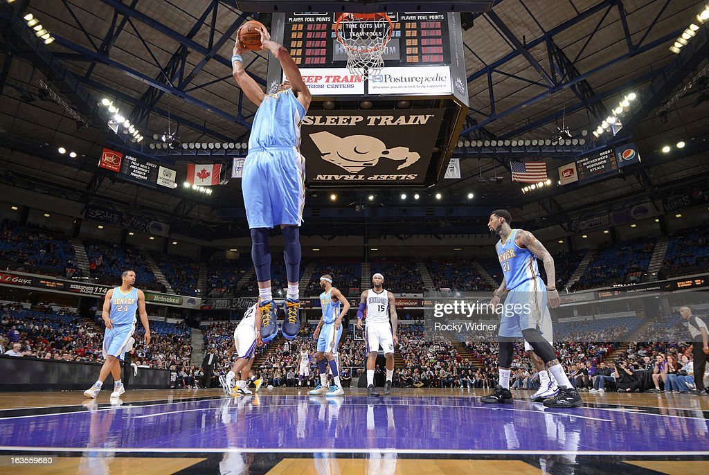<a gi-track='captionPersonalityLinkClicked' href=/galleries/search?phrase=JaVale+McGee&family=editorial&specificpeople=4195625 ng-click='$event.stopPropagation()'>JaVale McGee</a> #34 of the Denver Nuggets rebounds against the Sacramento Kings on March 5, 2013 at Sleep Train Arena in Sacramento, California.