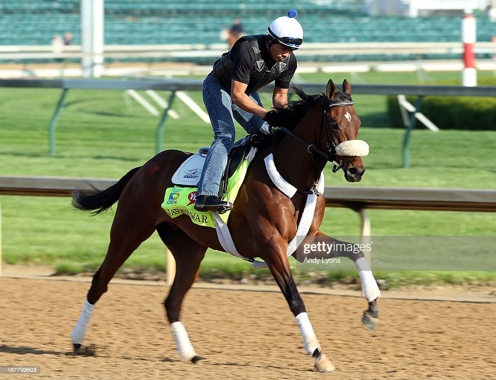 Java's War trained by Ken McPeek runs on the track during morning training in preperation for the 2013 Kentucky Derby at Churchill Downs on April 30, 2013 in Louisville, Kentucky.