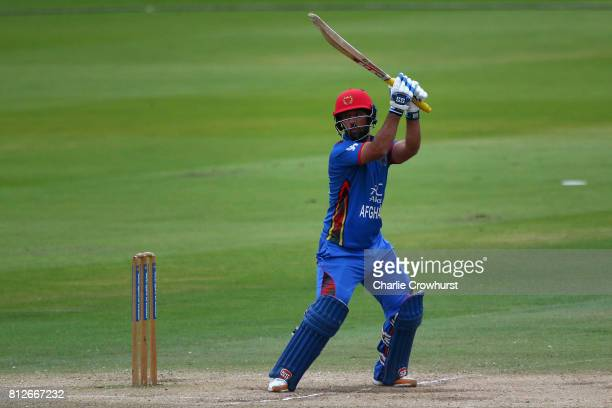 Javed Ahmadi of Afghanistan hits out during the MCC v Afghanistan cricket match at Lord's Cricket Ground on July 11 2017 in London England