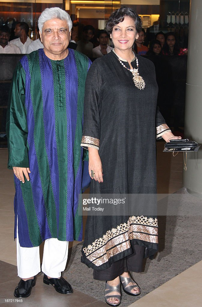 Javed Akhtar and Shabana Azmi at the premiere of the movie 'Talaash', held at PVR Cinema in Mumbai on November 29, 2012 .