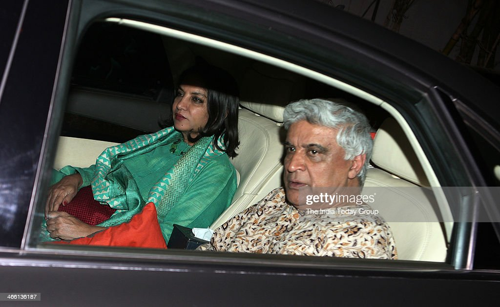 Javed Akhtar and <a gi-track='captionPersonalityLinkClicked' href=/galleries/search?phrase=Shabana+Azmi&family=editorial&specificpeople=565786 ng-click='$event.stopPropagation()'>Shabana Azmi</a> at the Special Screening of film One by Two at Sanny super sound studio Juhu, Mumbai on 30th January, 2014.