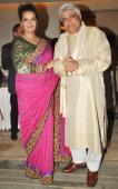 Javed Aktar with Shabana Azmi during Charity Show 'Mizwan' which is an Welfare Society run by her at Trident Bandra Kurla Mumbai