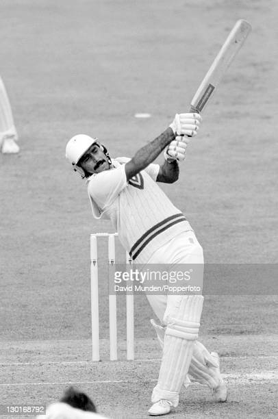 Javed Miandad batting for Pakistan during the 3rd Texaco Trophy one day International against England at Edgbaston in Birmingham 25th May 1987...