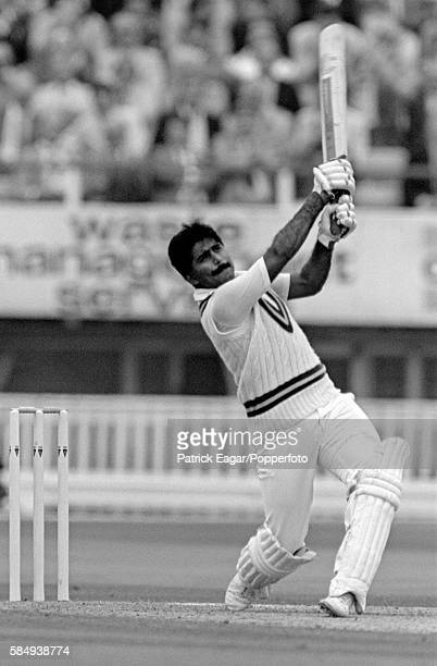 Javed Miandad batting for Pakistan during the 4th Test match between England and Pakistan at Edgbaston Birmingham 23rd July 1987