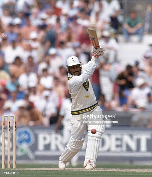 Javed Miandad batting for Pakistan during the 5th Test match between England and Pakistan at The Oval London 7th August 1992