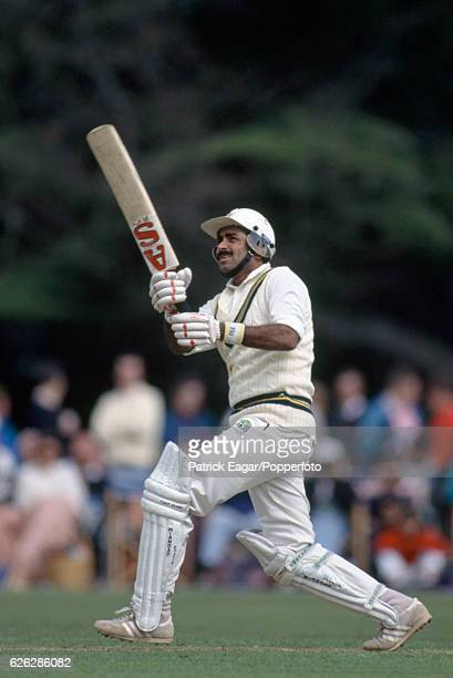 Javed Miandad batting for Pakistan during the tour match between Lavinia Duchess of Norfolk's XI and the Pakistanis at Arundel 3rd May 1992