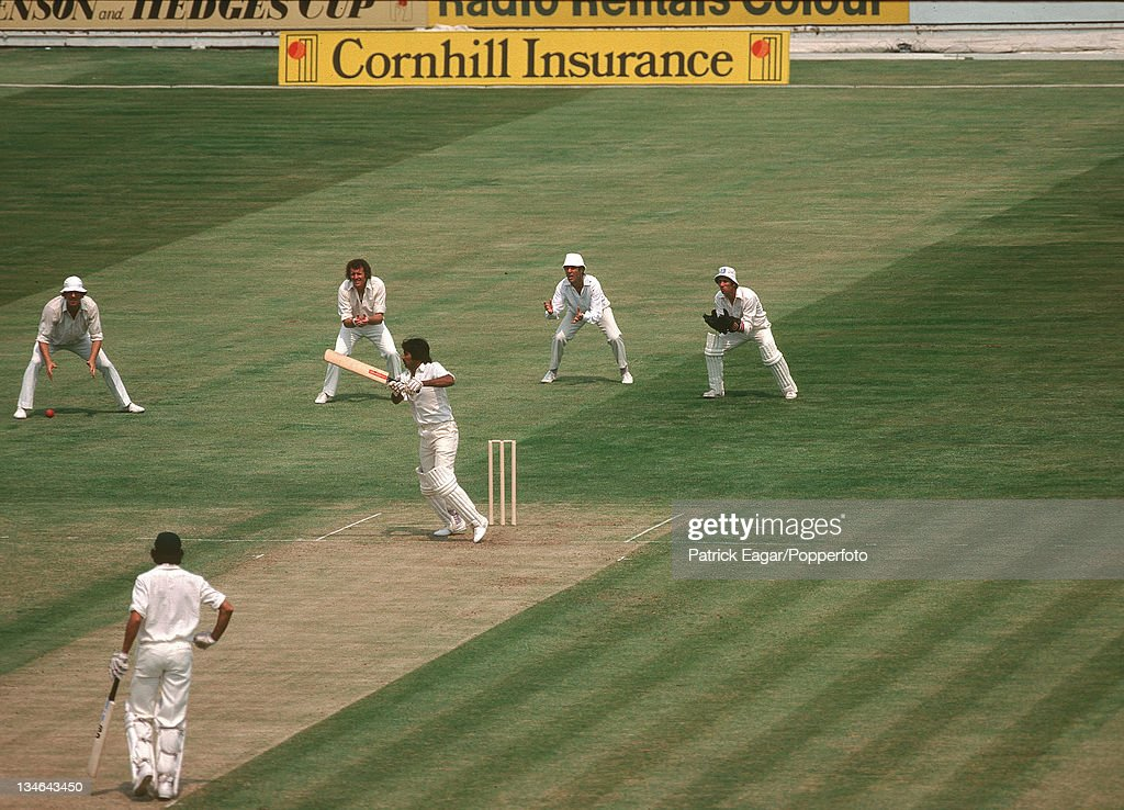 Javed Miandad batting on first day of first ever Cornhill Test match England v Pakistan 1st Test Edgbaston Jun 1978