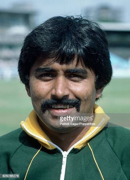 Javed Miandad of Pakistan before the 1st Test match between England and Pakistan at Edgbaston Birmingham 28th July 1982