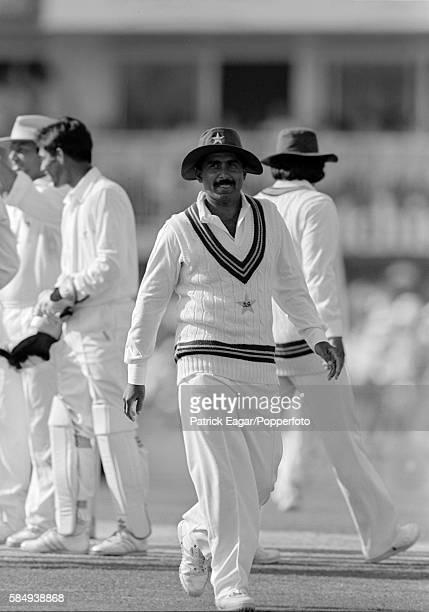 Javed Miandad of Pakistan during the 5th Test match between England and Pakistan at The Oval London 8th August 1987