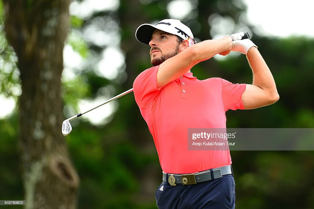 Javi Colomo of Spain pictured during the round 1 of the Yeangder Tournament Players Championship at Linkou International Golf Club on June 30, 2016 in Taipei, Taiwan.