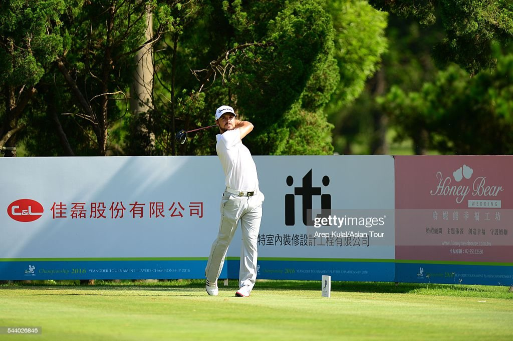 Javi Colomo of Spain pictured during the round 2 of the Yeangder Tournament Players Championship 2016 at Linkou International Golf Club on July 1, 2016 in Taipei, Taiwan.