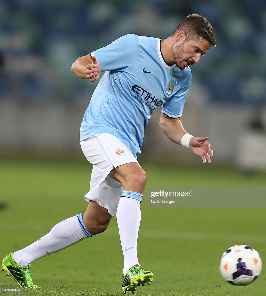 Javi Garcia of Manchester City during the Nelson Mandela Football Invitational match between AmaZulu and Manchester City at Moses Mabhida Stadium on July 18, 2013 in Durban, South Africa.
