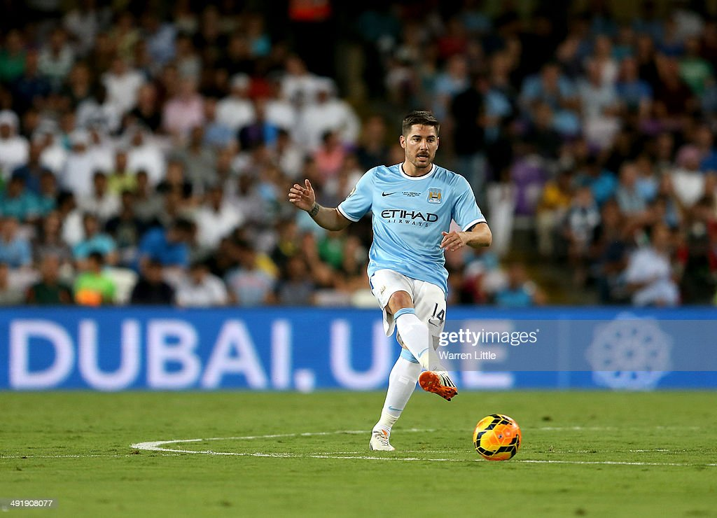 Javi Garcia of Manchester City in action during the friendly match between Al Ain and Manchester City at Hazza bin Zayed Stadium on May 15, 2014 in Al Ain, United Arab Emirates.