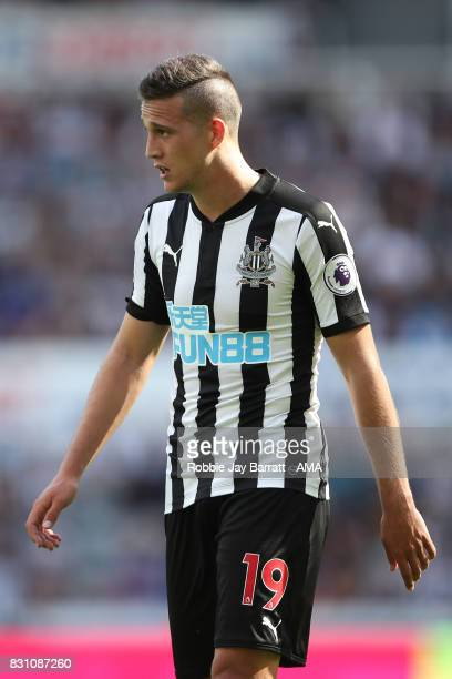 Javi Manquillo of Newcastle United during the Premier League match between Newcastle United and Tottenham Hotspur at St James Park on August 13 2017...