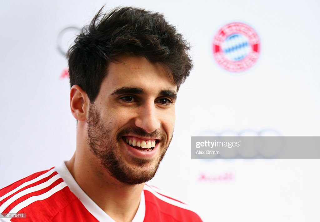 Javi Martinez attends a press conference during day 5 of the Bayern Muenchen training camp at ASPIRE Academy for Sports Excellence on January 13, 2015 in Doha, Qatar.
