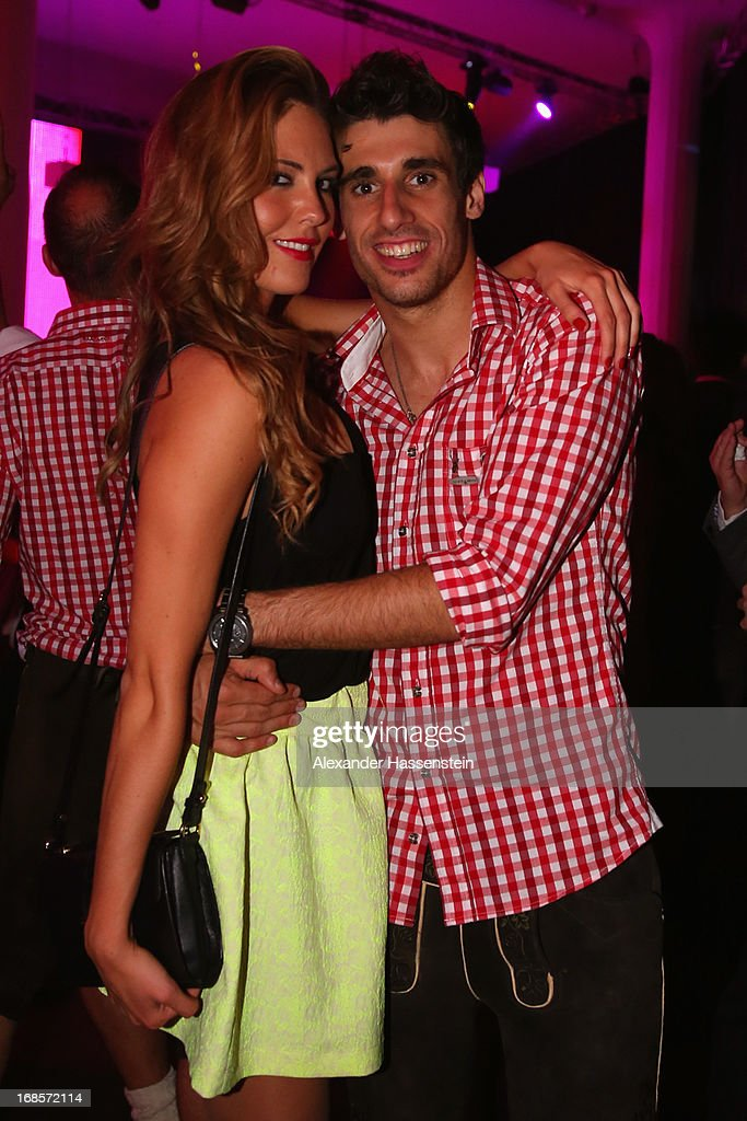 Javi Martinez attends with Maria the Official Champion dinner at Postpalast on May 12, 2013 in Munich, Germany.