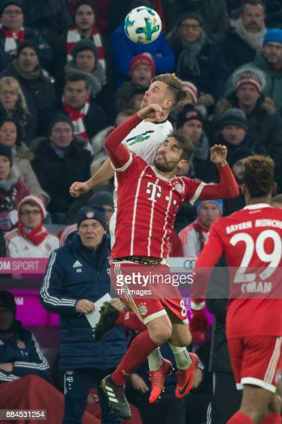 Javi Martinez of Bayern Muenchen and Felix Klaus of Hannover battle for the ball during the Bundesliga match between FC Bayern Muenchen and Hannover...