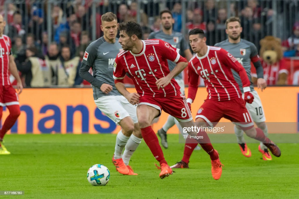 Javi Martinez of Bayern Muenchen during the Bundesliga match between FC Bayern Muenchen and FC Augsburg at Allianz Arena on November 18, 2017 in Munich, Germany.