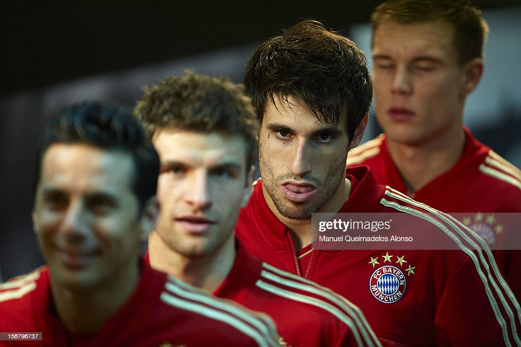 Javi Martinez of Bayern Muenchen looks on before the UEFA Champions League group F match between Valencia CF and FC Bayern Muenchen at Estadio Mestalla on November 20, 2012 in Valencia, Spain.