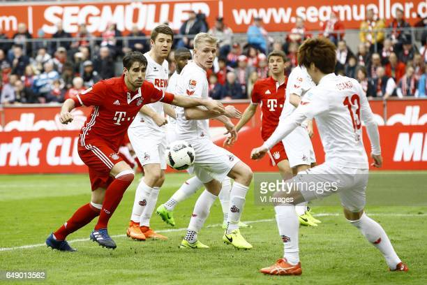 Javi Martinez of Bayern Munich Frederik Sorensen of 1FC Kolnduring the Bundesliga match between 1 FC Koln and Bayern Munich on March 04 2017 at the...
