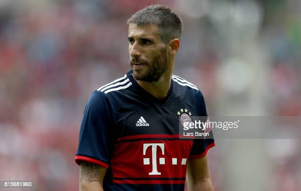 Javi Martinez of Muenchen looks on during the Telekom Cup 2017 match between Bayern Muenchen and 1899 Hoffenheim at on July 15 2017 in...