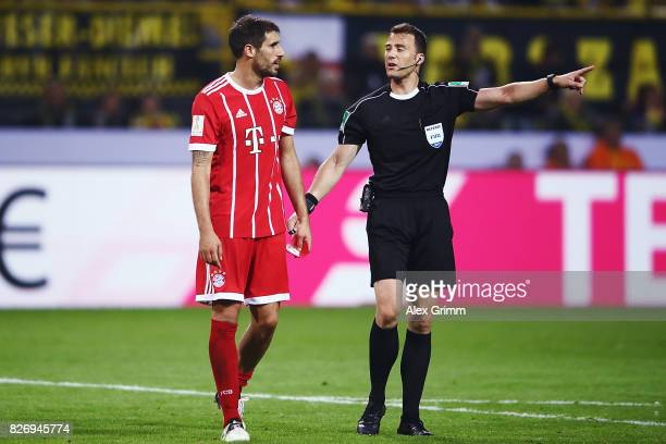 Javi Martinez of Muenchen reacts during the DFL Supercup 2017 match between Borussia Dortmund and Bayern Muenchen at Signal Iduna Park on August 5...