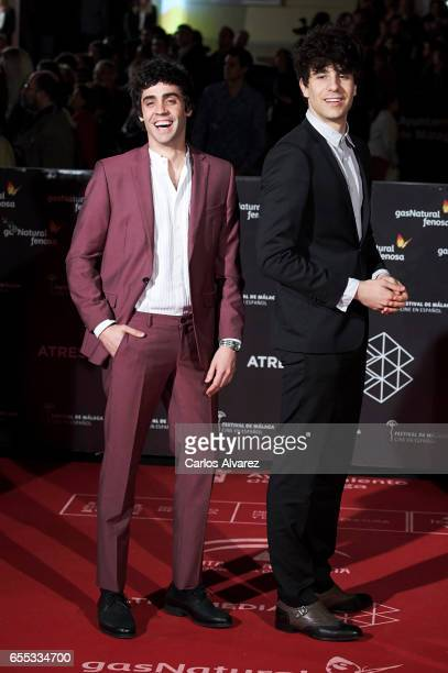Javier Ambrossi and Javier Calvo attend the 'Amar' premiere during the 20th Malaga Film Festival 2017 Day 3 at the Cervantes Theater on March 19 2017...