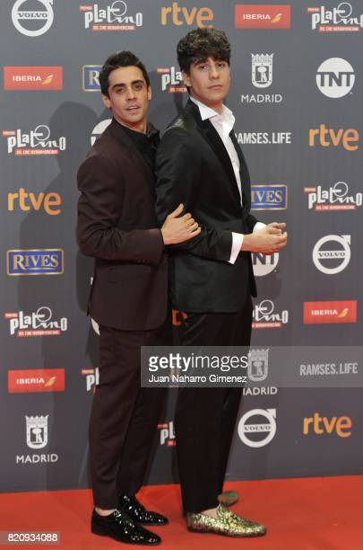 Javier Ambrossi and Javier Calvo attend the 'Platino Awards 2017' photocall at La Caja Magica on July 22 2017 in Madrid Spain