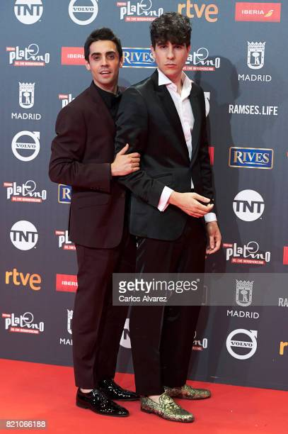 Javier Ambrosi and JAvier Calvo attend the Platino Awards 2017 photocall at the La Caja Magica on July 22 2017 in Madrid Spain