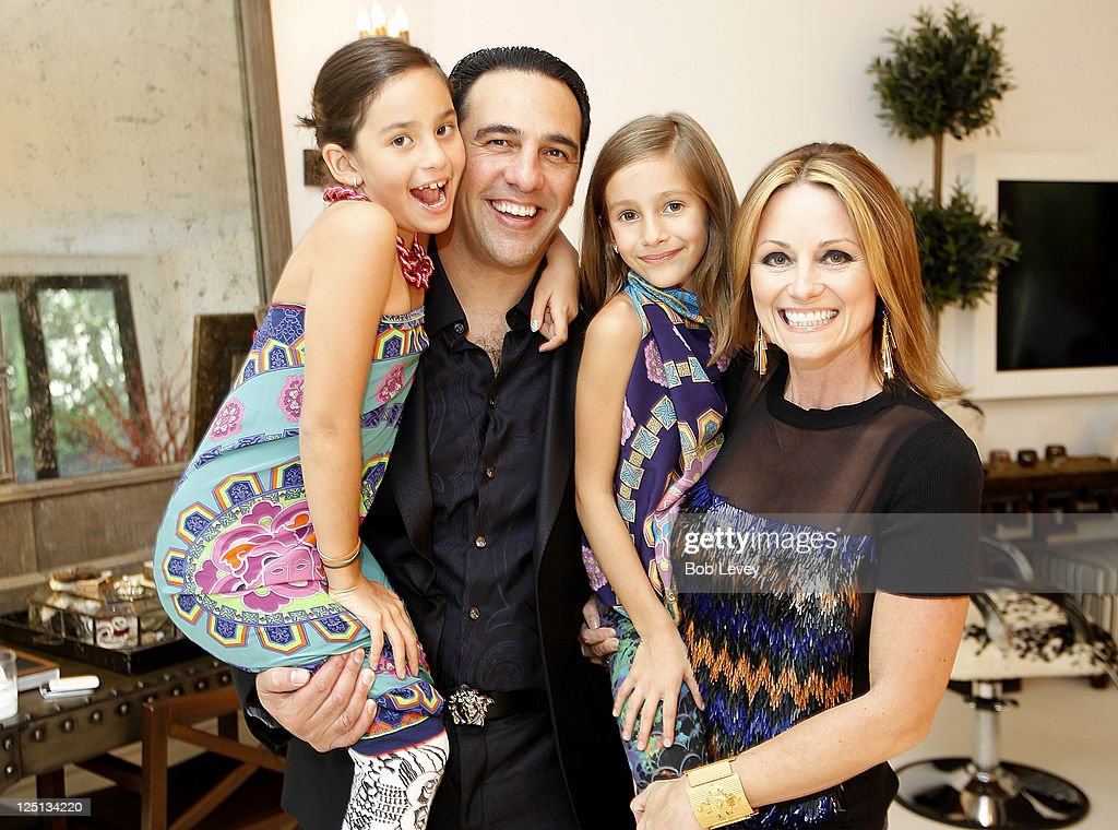 Javier and Lucinda Loya with their children Anna-Luca and Elena at the Vogue And Versace Celebrate The 2011 Fall/Winter Collection At The Home Of Lucinda Loya on September 15, 2011 in Houston, Texas.