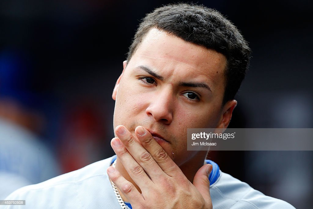 Chicago cubs v new york mets getty images for Javier baez neck tattoo