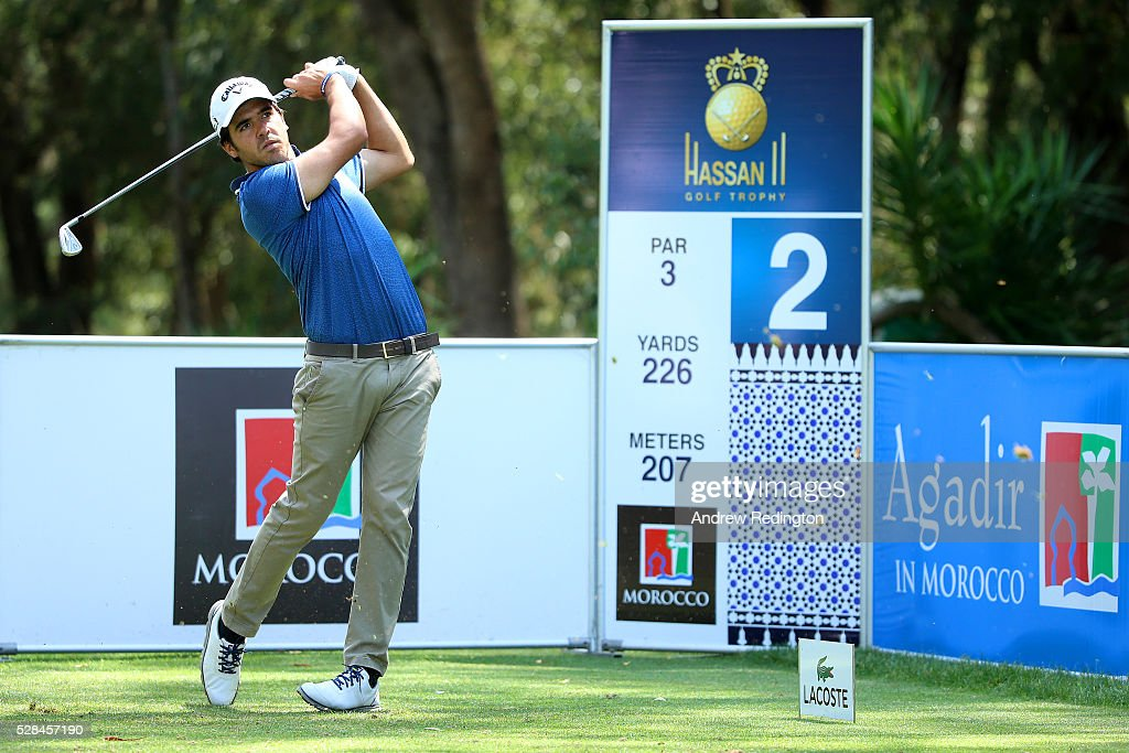 Javier Ballesteros of Spain hits his tee shot on the 2nd during the first round of the Trophee Hassan II at Royal Golf Dar Es Salam on May 5, 2016 in Rabat, Morocco.