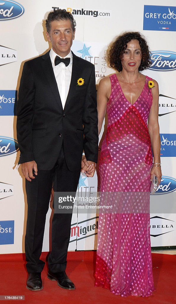 Javier Banderas and guest attend the 4rd annual Starlite Charity Gala on August 10, 2013 in Marbella, Spain.