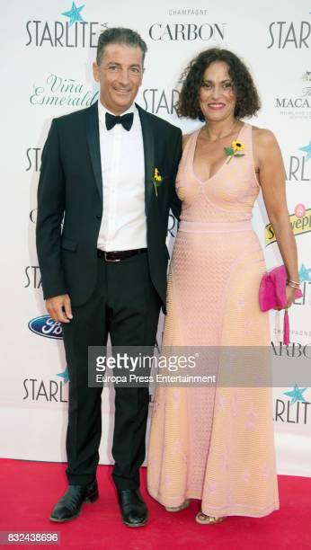 Javier Banderas and his wife Maria Angeles attend Starlite Gala on August 13 2017 in Marbella Spain