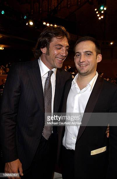 Javier Bardem and Alejandro Amenabar during 10th Annual Critics' Choice Awards Backstage and Audience at Wiltern LG Theatre in Los Angeles California...
