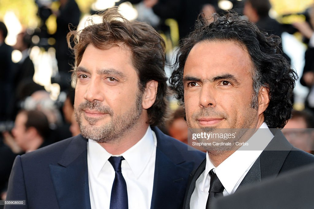 Javier Bardem and Alejandro Gonzalez Inarritu attend the premiere of 'The tree' during the 63rd Cannes International Film Festival.