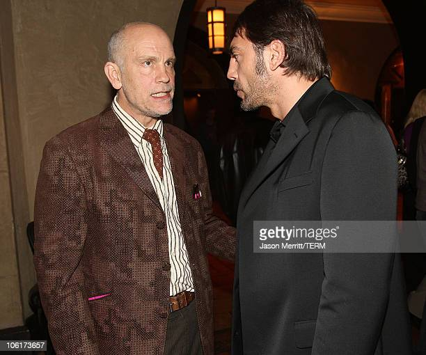 Javier Bardem and John Malkovich arrives at the premiere of Miramax Films' 'No Country For Old Men' held at the El Capitan Theater on November 4 2007...
