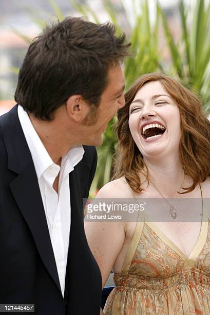 Javier Bardem and Kelly Macdonald during 2007 Cannes Film Festival 'No Country for Old Men' Photocall at Palais des Festivals in Cannes France