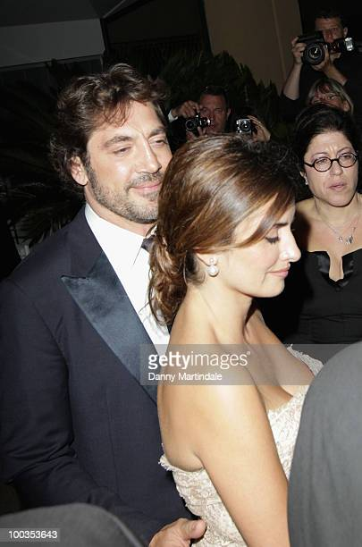 Javier Bardem and Penelope Cruz are seen leaving the 63rd Cannes Film Festival on May 23 2010 in Cannes France