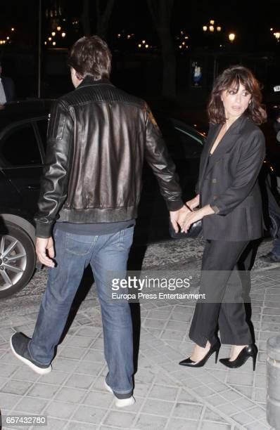 Javier Bardem and Penelope Cruz attend the Monica Cruz's 40th birthday party on March 14 2017 in Madrid Spain