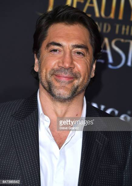 Javier Bardem arrives a the Premiere Of Disney's 'Beauty And The Beast' at El Capitan Theatre on March 2 2017 in Los Angeles California