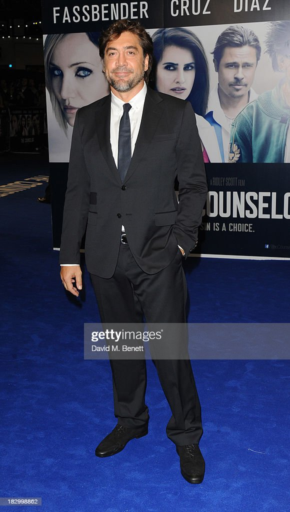 <a gi-track='captionPersonalityLinkClicked' href=/galleries/search?phrase=Javier+Bardem&family=editorial&specificpeople=209334 ng-click='$event.stopPropagation()'>Javier Bardem</a> attends a special screening of 'The Counselor' at the Odeon West End on October 3, 2013 in London, England.