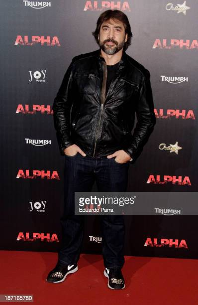 Javier Bardem attends 'Alpha' premiere photocall at Kinepolis cinema on November 6 2013 in Madrid Spain