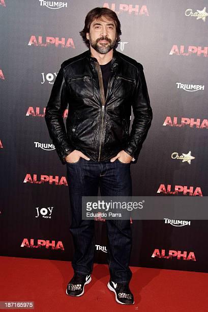 Javier Bardem attends 'Alpha' premiere photocall at Kinepolis Cinema on November 6 2013 in Madrid Spain