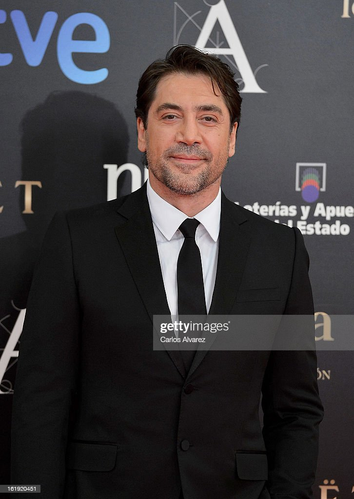 Javier Bardem attends Goya Cinema Awards 2013 at Centro de Congresos Principe Felipe on February 17, 2013 in Madrid, Spain.