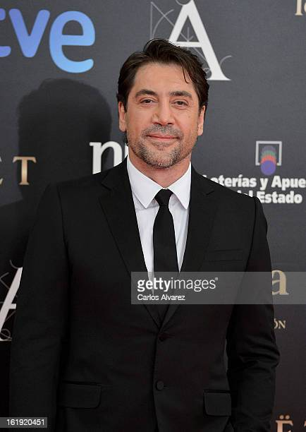 Javier Bardem attends Goya Cinema Awards 2013 at Centro de Congresos Principe Felipe on February 17 2013 in Madrid Spain